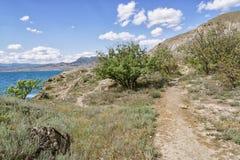 Накидка Meganom ландшафта в Крыме Стоковое Изображение RF