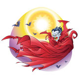 Накидка вампира в ноче Стоковое Фото