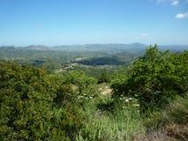 Накидка Родос гор, Греция, греческие острова Стоковое Изображение