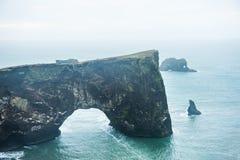 Накидка Dyrholaey на атлантическом побережье, Исландия Стоковое Изображение