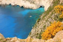 Накидка Keri, Греция, Ionian побережье Стоковые Фотографии RF