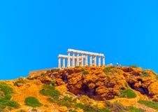 Накидка Sunio в Греции стоковое изображение