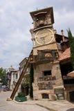 Наклоненная башня часов Стоковые Фото
