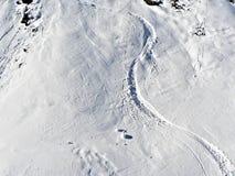 наклон лыжи Стоковое Изображение