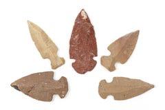 Наконечникы коренного американца индийские каменные стоковое фото