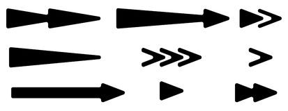 Наконечник, комплект указателя Формы стрелки, элементы стрелки Плоская стрелка бесплатная иллюстрация