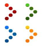 Наконечник Pixelated в ярких цветах - значки стрелки выпрямляют бесплатная иллюстрация
