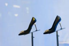 накрененные высокие ботинки стоковое изображение rf