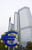 накрените центральный знак европейца евро Стоковое Изображение RF