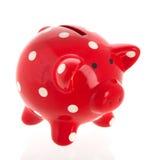 накрените piggy красный цвет Стоковое Изображение RF