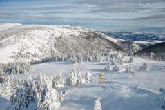 Наклоны лыжи стоковое изображение