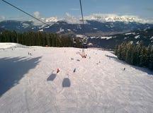 Наклоны лыжи Стоковые Фото