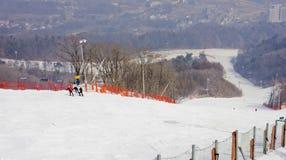 Наклоны лыжи Стоковые Фотографии RF