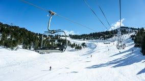 Наклоны лыжи Стоковое фото RF