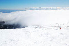 Наклон в лыжный курорт Strbske Pleso Стоковые Фото