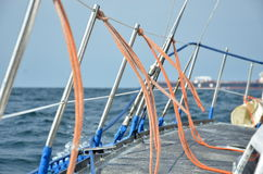 Наклон на яхте Стоковая Фотография