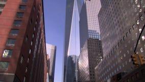 Наклон до всемирного торгового центра одного сток-видео