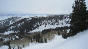 Наклон лыжи в Юту стоковое изображение