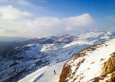 наклон лыжи области caucasus dombay Стоковые Изображения RF