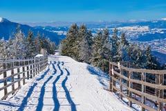 Наклон лыжи, Румыния Стоковая Фотография