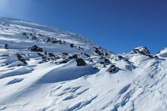 Наклон льда горы Стоковые Изображения