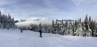 Наклон Snowy Стоковая Фотография