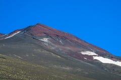 Наклон Volcan покрытый с золой Стоковые Изображения