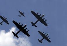 налет бомбардировщиков тысяча Стоковое Изображение RF