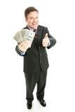 наличные деньги бизнесмена Стоковая Фотография
