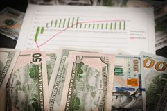 Наличные деньги для предпосылки счеты вокруг диаграммы роста стоковые изображения rf