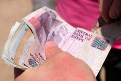 Наличные деньги египетских фунтов стоковые фотографии rf