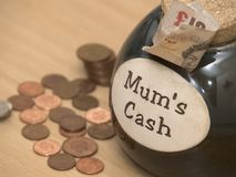 Наличные деньги мумий Стоковые Фото