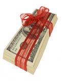наличные деньги 100 счетов Стоковые Фотографии RF