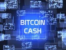 Наличные деньги Cryptocurrency Bitcoin Иллюстрация вектора
