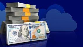 наличные деньги 3d Стоковое Изображение