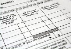 Налоговые формы стоковое фото