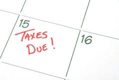 налог с наступившим сроком уплаты Стоковые Изображения RF