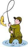 наматывать мухы рыболовства рыболова рыб Стоковые Фото