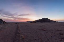 намибийский заход солнца Стоковые Изображения RF