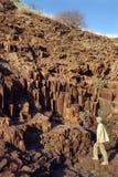 Намибия - наземный ориентир труб органа - Damaraland стоковое изображение rf