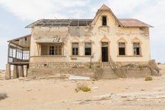 НАМИБИЯ, KOLMANSKOP - 14-ОЕ СЕНТЯБРЯ 2014: Город-привидение Стоковое Фото