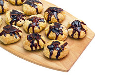 намоченные гайки печений шоколада Стоковое Изображение RF