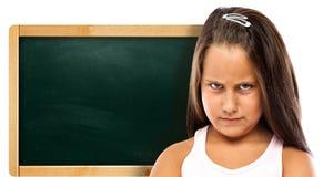 Намочиенные дети с зеленым Chalkboard Стоковое Фото