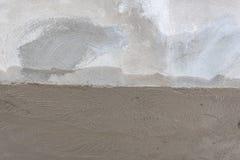 Намочите - и - сухую бетонную стену гипсолита Стоковое Фото
