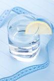 Намочите на здоровая жизнь с лимоном Стоковые Изображения RF