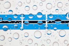Намочите падения на стекле и флагах Ботсваны Стоковые Изображения RF