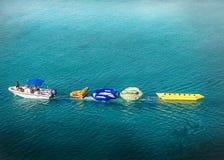 Намочите потеху в середине океана как раз грандиозных турков Стоковое Изображение