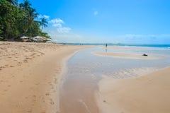 Намочите формы и благоустраивайте пляжем Itacare Стоковое Изображение