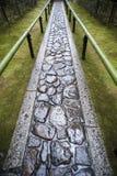 Намочите footpath внутри Koto-в Стоковые Фотографии RF