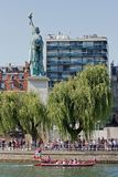 Намочите jousting, парижский joust, quay Seine, Стоковая Фотография